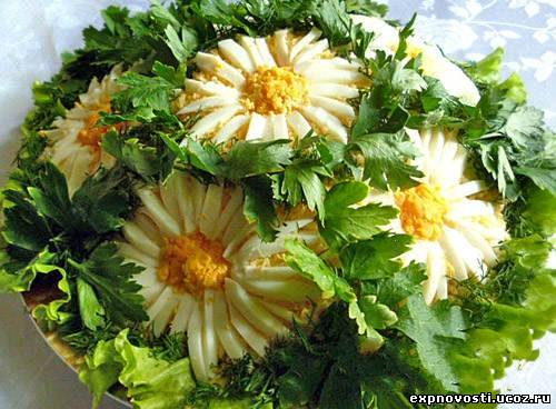Фото рецепты салата с ромашками